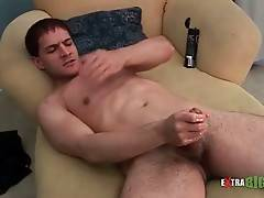 Hot Stud Massages His Massive Cock 3